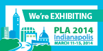 PLA 2014 We're Exhibiting Badge