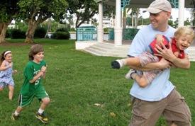 Children's Author Lunch speaker Brad Meltzer (and Family)