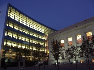 Central Library night exterior