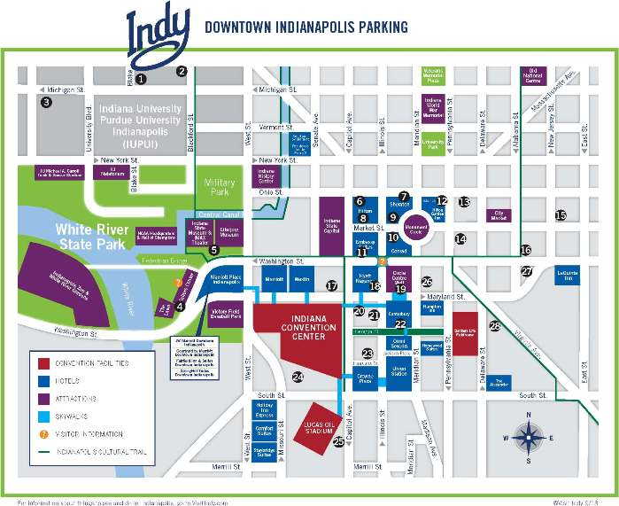 Click to view full-size Downtown Indy Parking Map (PDF, 2 pgs., opens in new window/tab)